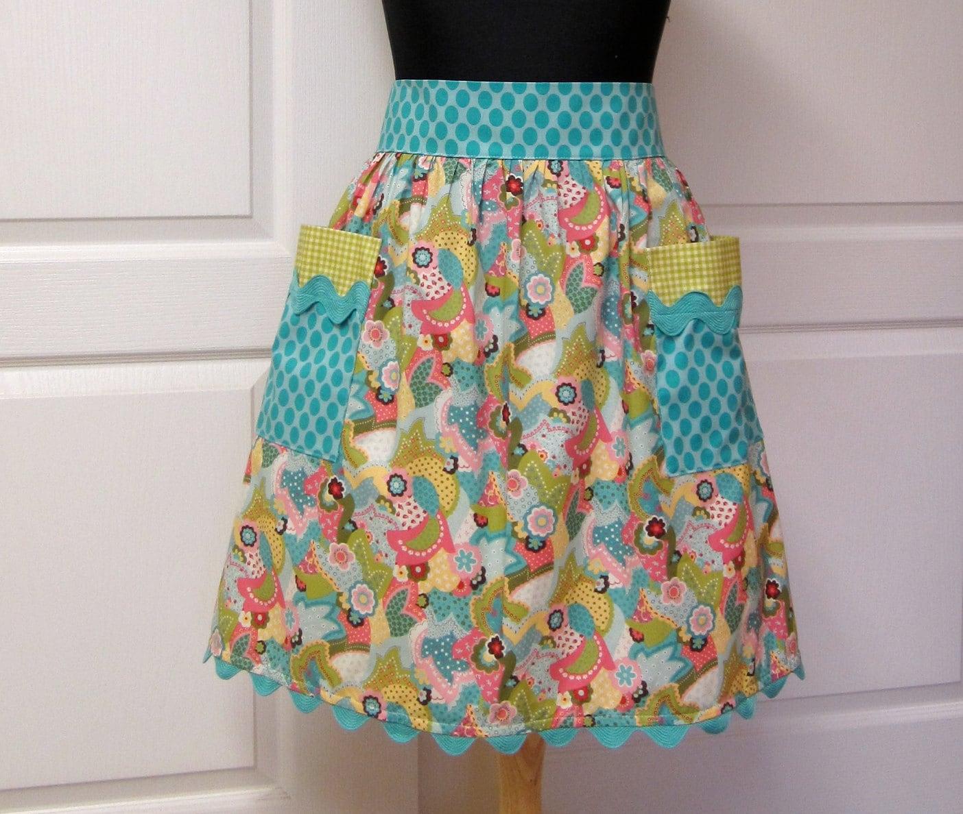 cute kitchen aprons fatigue mats sophie retro half apron mulit color handmade womens by