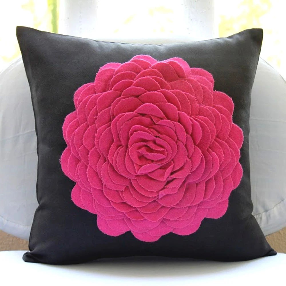 Decorative Throw Pillow Covers 20x20 Suede Pillow Cover Felt