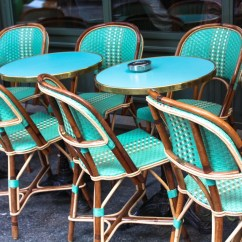 Parisian Cafe Chairs Gold Banquet Chair Covers Paris Photography Mint Green In Montmartre