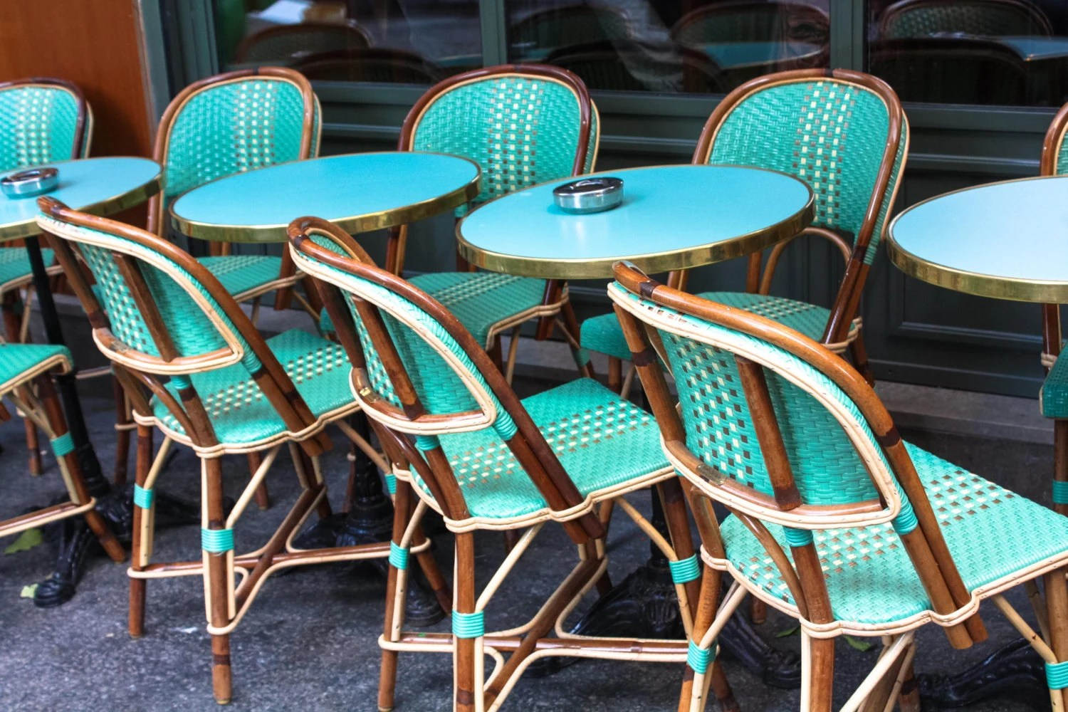 Cafe Chairs Paris Photography Mint Green Cafe Chairs In Montmartre
