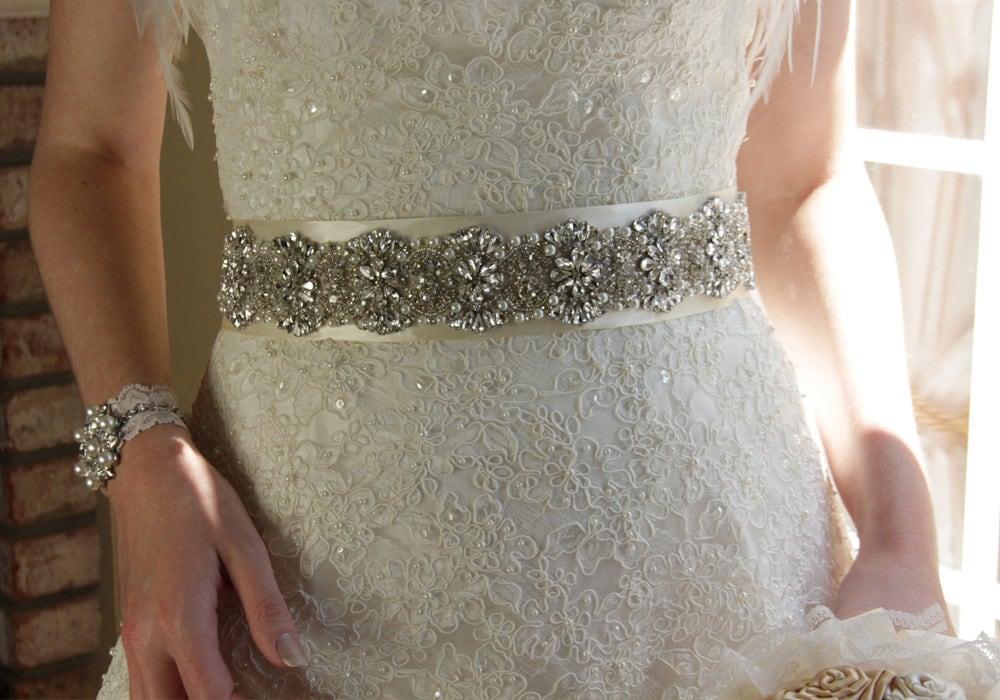 11 Crystal Bridal Sash Rhinestone Bridal Belt Beaded