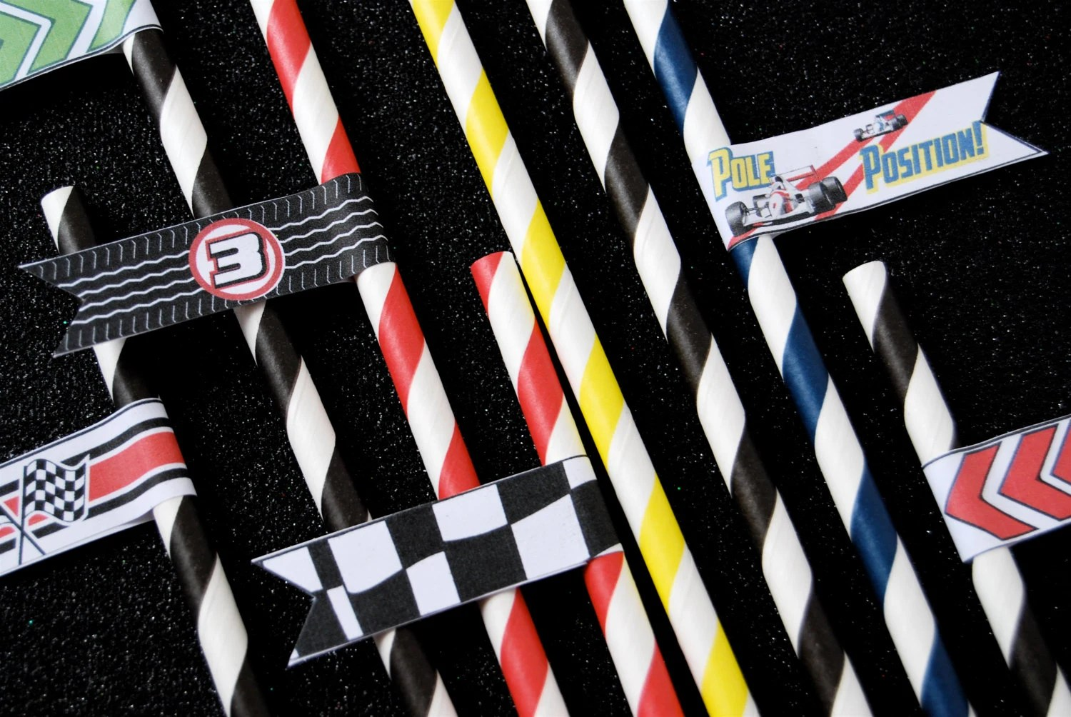 Racing Race Car Printable Party Flags For By Cupcakesocial