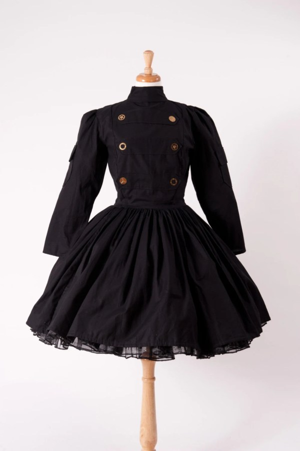 Steampunk Steam Punk Military Dress Gothic Goth Lolita Black
