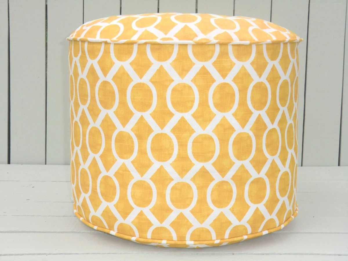 Pouf Chair Yellow Pouf Ottoman Round Floor Pouf In 18 Corn