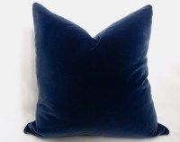 Cotton Velvet Pillow Cover Midnight Navy Navy by WillaSkyeHome