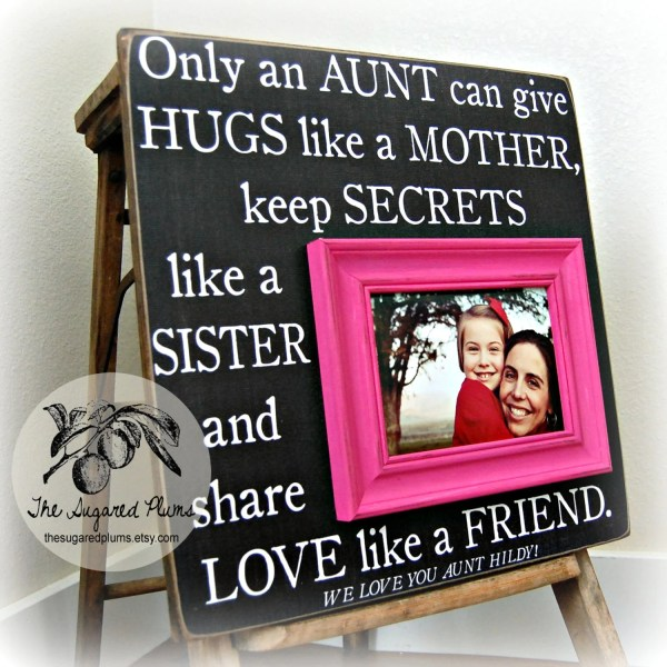 Aunt Personalized Frame 16x16