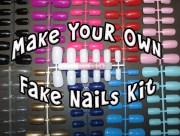 make fake nails kit blank