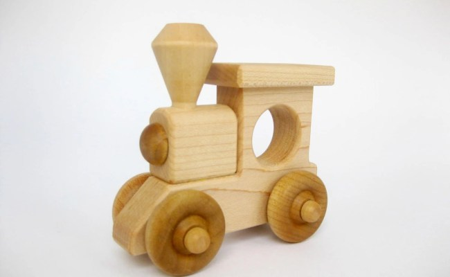 Wood Toy Train Engine Eco Friendly Wooden Toy
