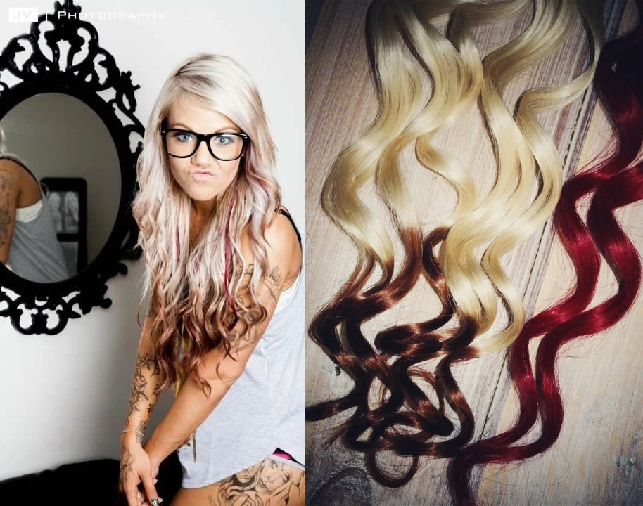 Valentines Day Reverse Ombre Hair Extensions Two
