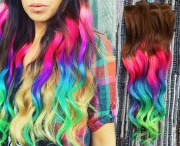 neon dream clip in hair extensions