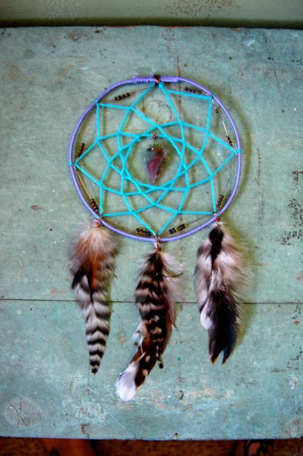 Agate Arrowhead Forest Tribal Dream Catcher With Recycled