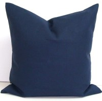 SOLID NAVY PILLOW.20x20 inch.Pillow Cover. by ElemenOPillows