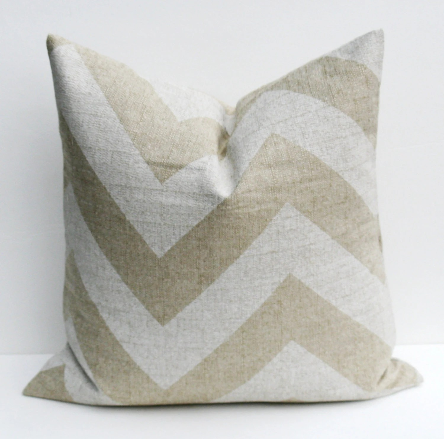 26x26 Throw Pillow Covers Chevron Pillow Burlap by EastAndNest