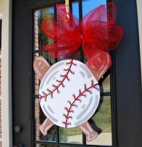 Door Hanger: Baseball Softball Baseball Wall Decor Sports