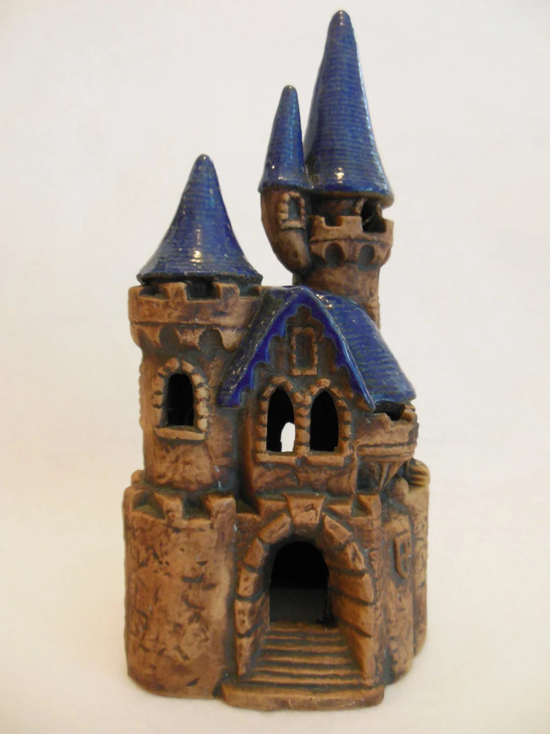 CASTLE  Ceramic Castle  Garden Decor  Aquarium