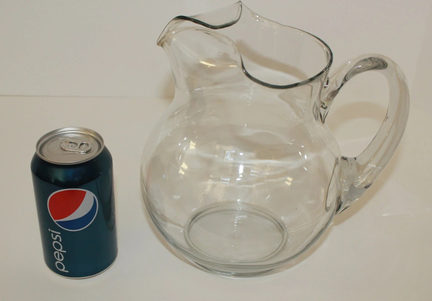Vntage Koolaid Style Clear Glass Pitcher by VintageCharmers