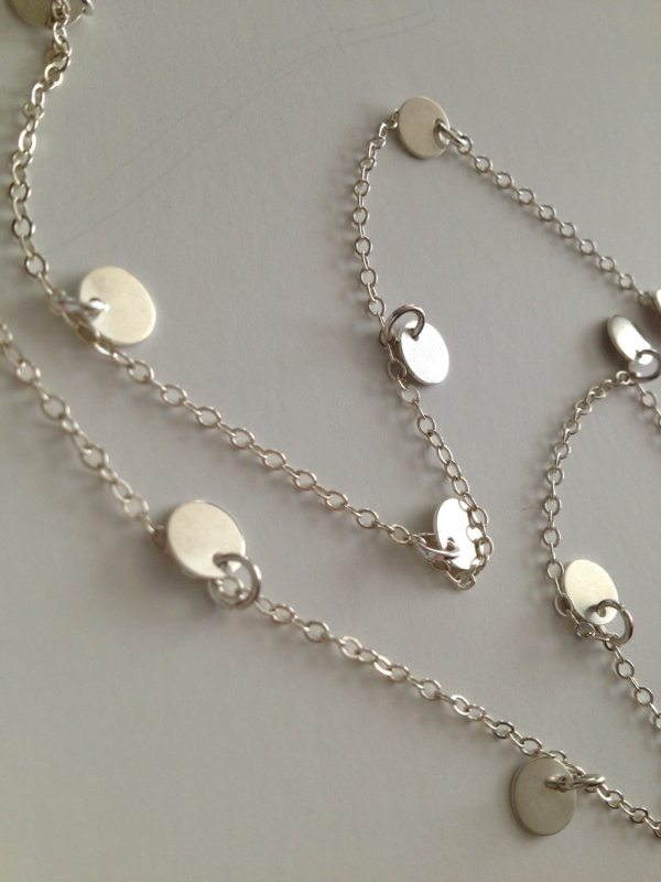 38 Courtney Cougar Town Necklace Discs Long