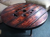 Upcycled LARGE Spool Coffee Table Coffee Table by JBJunkMarket