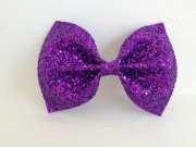 medium purple glitter bow