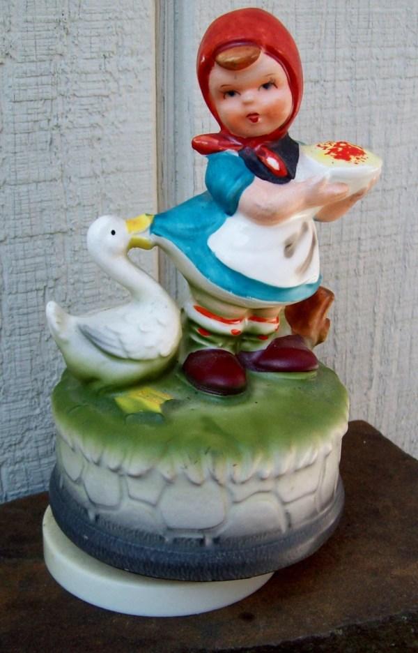 Vintage Music Box Figurine Japan