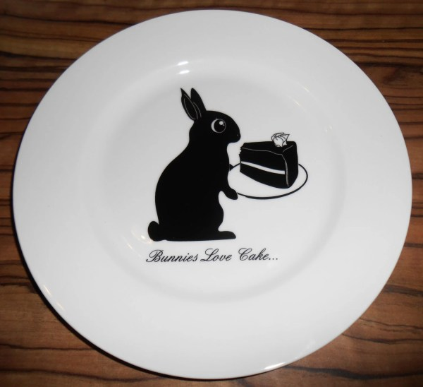 Cute Bunny Plate Birthday Cake Easter Animal