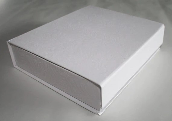 Items similar to Easy to Open White Flip Top Boxes With Magnetic Catch and Swirl Pattern Lot of