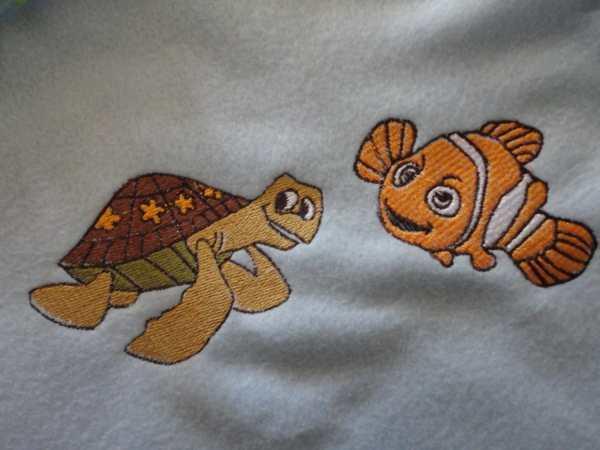 Nemo & Crush Fleece Tie Blanket Foxinspirations