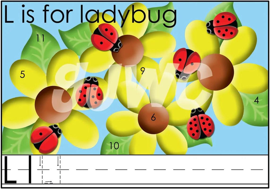 L Is For Ladybug Alphabet File Folder Game Downloadable