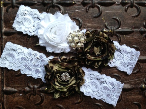 Camo Wedding Garter Set Bridal