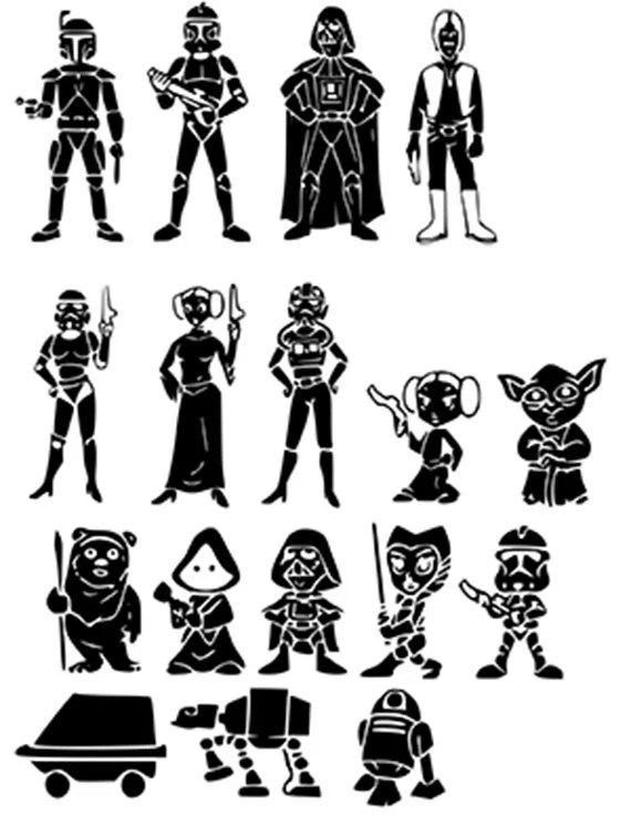 Star Wars Family SVG files by LetsCutSomething on Etsy