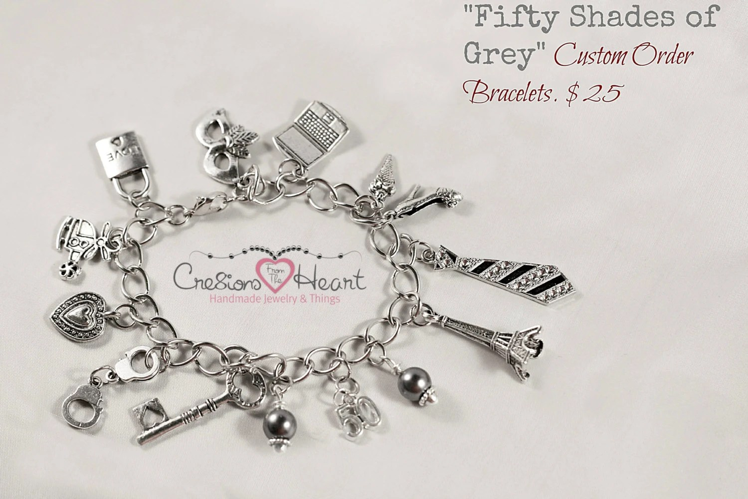 Fifty Shades of Grey Inspired Bracelet 50 by