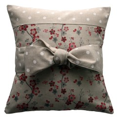 How To Cover A Sofa Cushion Innovation Ersatzteile Handmade Pillow Country Chic Bow
