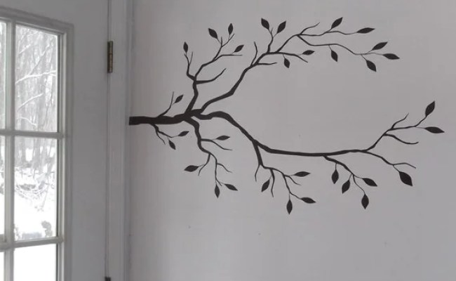 Tree Branch Vinyl Decals Create A Diy Coat Rack By
