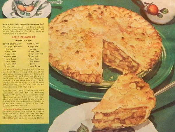 vintage crisco apple pie ad