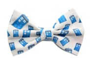 Dr Who Bow Tie with adjustable strap Tardis Fandom Bow