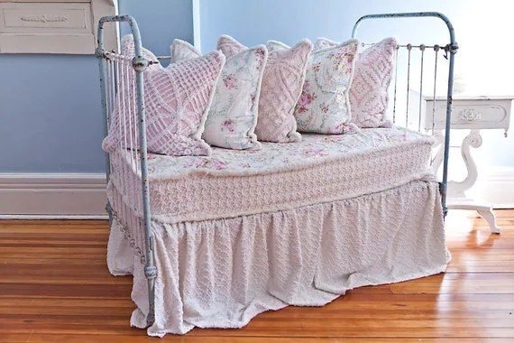 daybed sofa slipcover modern living room corner sofas antique wrought iron crib settee by ...