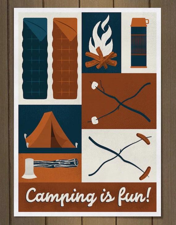camping is fun print