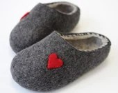 Hand Felted Slippers for Everyone. Dark Gray / Light Gray .Size   EU 38-39 ready to ship. - DMpics