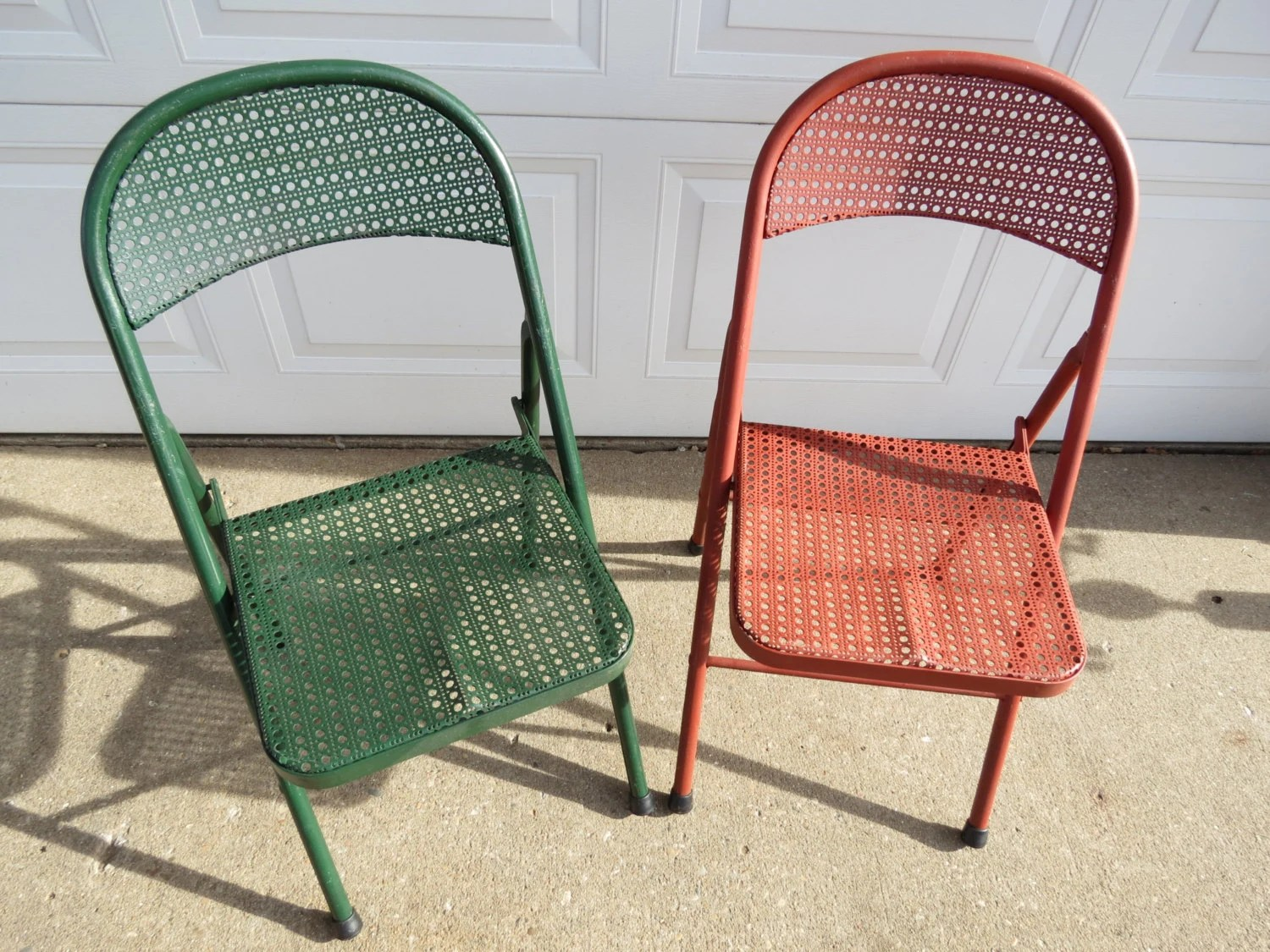 Steel Folding Chair Vintage Metal Folding Chairs