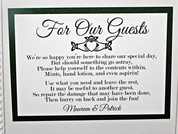 PRINTABLE SIGN Wedding Bathroom Basket by MySentimentsInvites