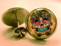 Skull Studs: Sugar Skull Stud Earrings Skull EarringsDay of
