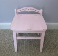 SALE Rustic Shabby Chic Pastel Pink Vanity Chair by Fairyhome