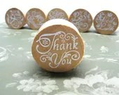 THANK YOU Wood Mounted Rubber Stamp - chickydoddle