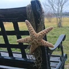 Beach Wedding Chair Decoration Ideas Rocking Cane Back Decor Fish Net And Starfish