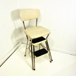 Chair Step Stool Victorian Style Chairs Cheap Retro Cosco 50s Vintage Kitchen