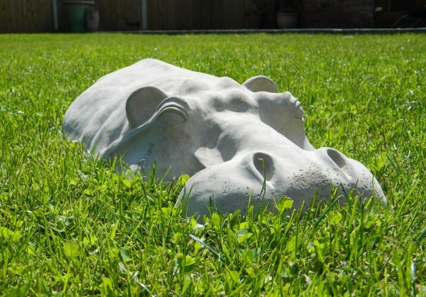Hippopotamus Garden Sculpture Hippo Ornament 27 Long