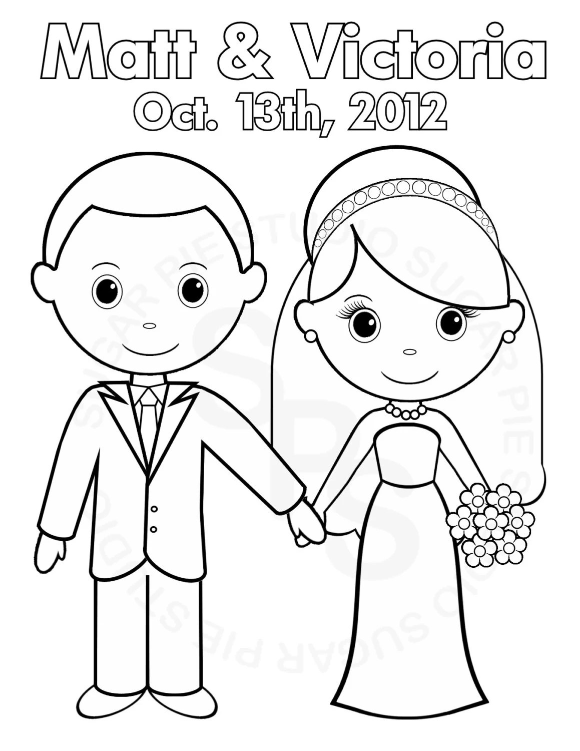 Bride And Groom Couple Coloring Pages Coloring Pages