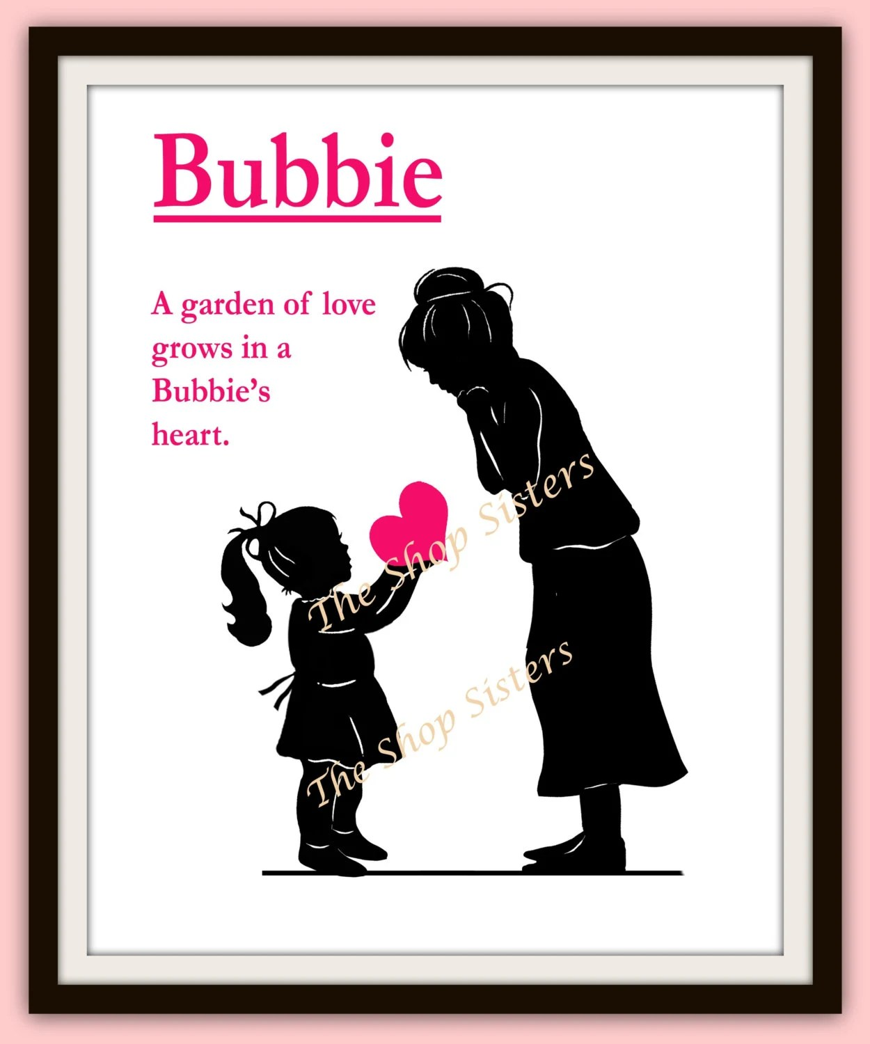 Items Similar To Mother's Day Grandmother Bubbie Gift