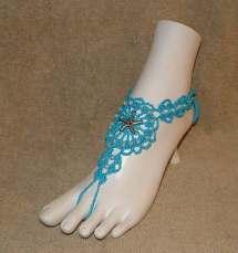 Crochet Barefoot Sandals Bracelet Rings Anklet Bracelets