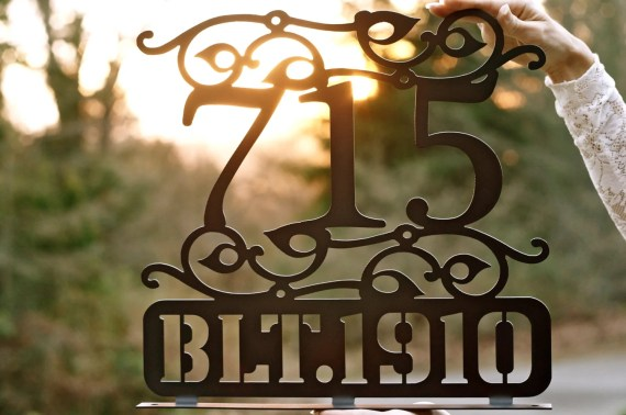 Outdoor House Numbers / Steel house numbers / Craftsman house number /Address / House Address
